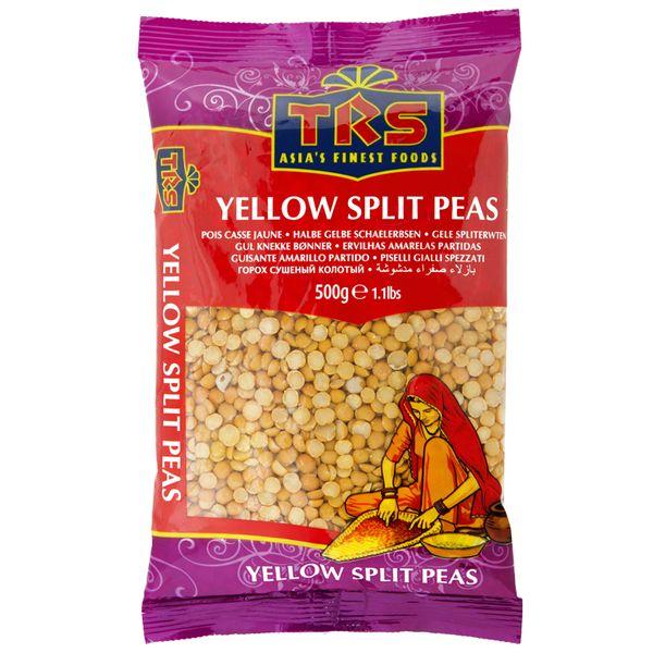 TRS- halbierte geschälte Gelberbsen 500 Gramm, getrocknete Hülsenfrüchte