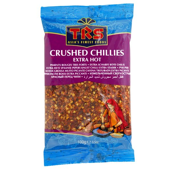 TRS- Extra scharfe Chilli 100 Gramm Crushed Cillies Extra Hot, Chilli