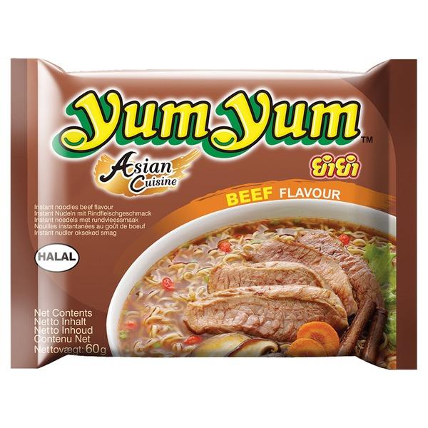 Yum Yum  60 Gramm Rind Flavour Fertigsuppe Nudelsuppe