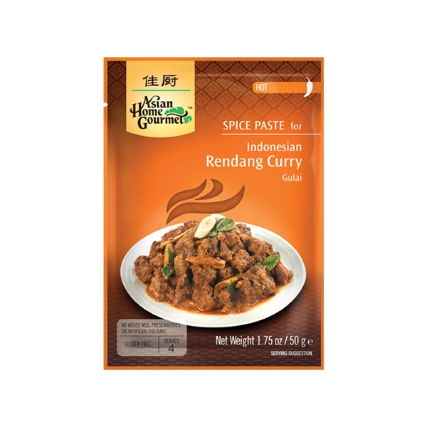 Spice Paste-  Indonesische Rendang Curry 50 Gramm Hot soße Würzpaste