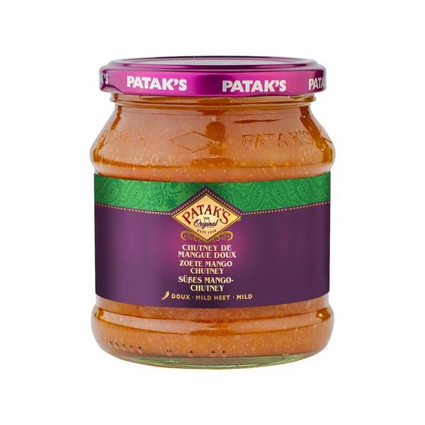 Pataks- Süßes Mango Chutney 340 Gramm Paste Soße Mild