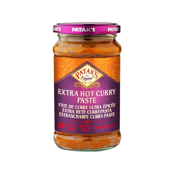 Pataks- Extra Hot Curry Paste 283 Gramm Paste Soße Schaf