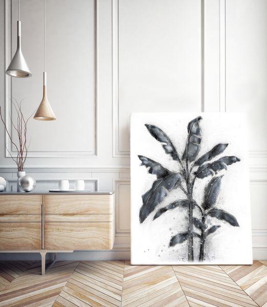 Aluminium Wandbild Palme II 80cm x 100cm
