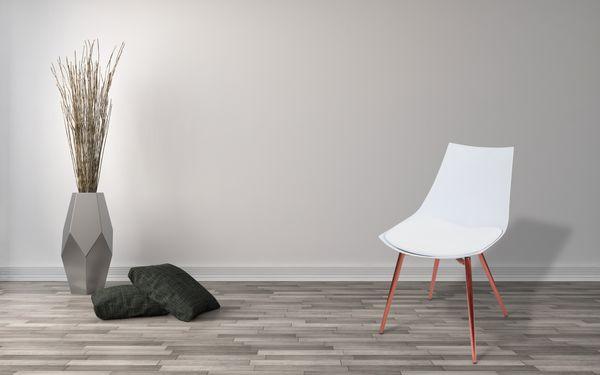 Stuhl Dakota 210 4er-Set Weiß / Kupfer