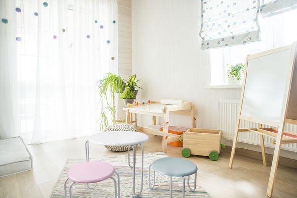 Kinder Sitzgruppe Vanessa Weiß / Pastellpink / Pastellblau
