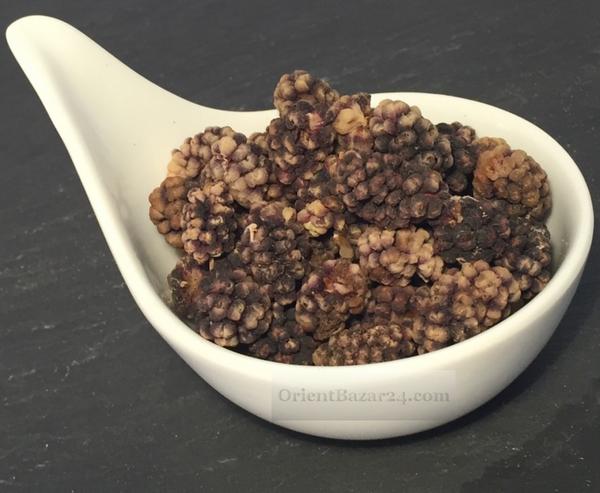 Getrocknete Maulbeeren Schwarz 350 Gramm ( Tute khoshk siah )